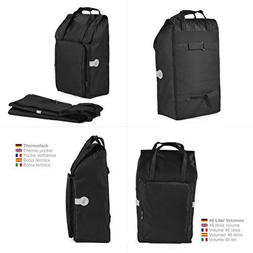 Original Andersen Royal Shopper mit Tasche Nora schwarz, mit Luftreifen