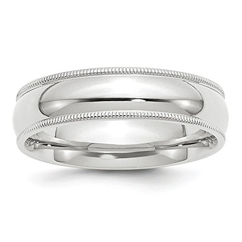 Best Designer Jewelry 14KW 6mm Milgrain Comfort Fit Band Size 11 ()