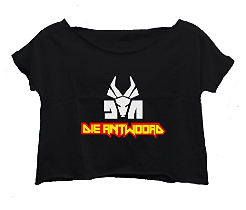 Lockeroom7-Womens-Die-Antwoord-T-shirt-Crop-Top-Shirt-Tee