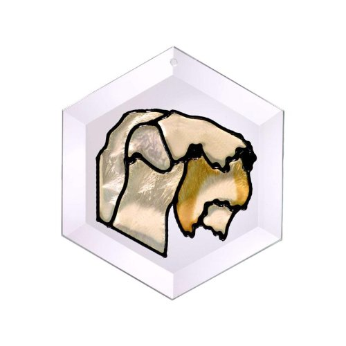 (Wheaten Terrier Painted Glass Suncatcher (Ew-266))