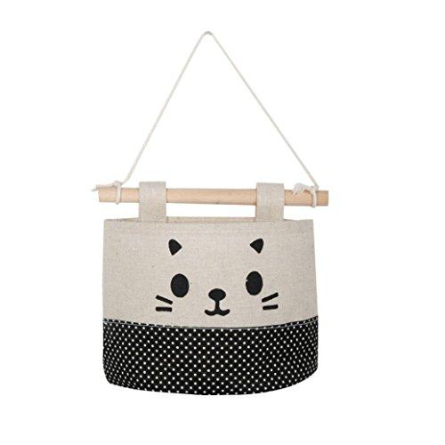 Boomboom Storage Bag, New Cotton Cartoon Cat Hanging Storage Wall Door Storage Decoration (A) by Boomboom (Image #3)