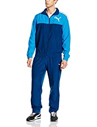Puma Mens Tracksuit Woven Fun Graphic Training Jacket/Pant Blue S-XL New 83415011 (S)