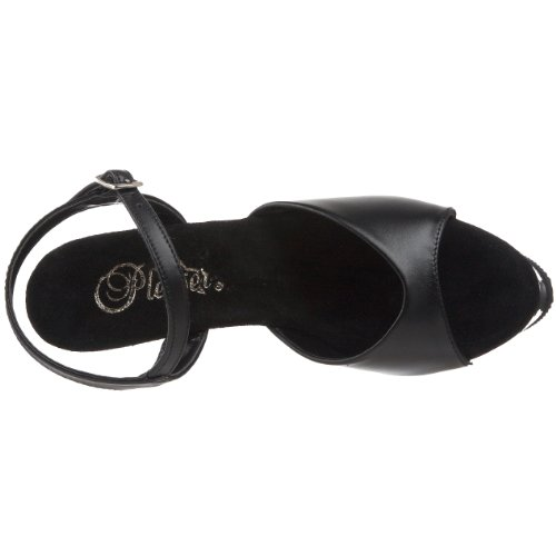 Blk Pleaser Platea Donna 209 con Sandali Kiss Blk Leather rUq8wr6Ax