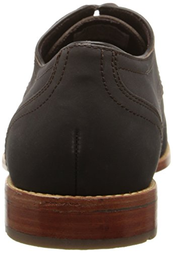 Rockport Mens Style refinement Plaintoe Dark Bitter Chocolate Nubuck 7.5 W (EE)