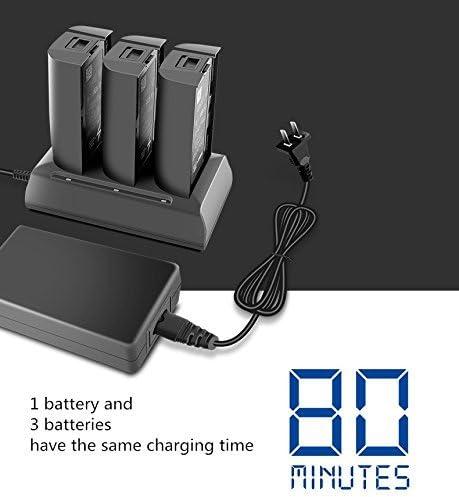 Taoke 3 en 1 Chargeur de Batterie Intelligent Ultra-Rapide Chargeur de Batterie Compatible avec Batterie Parrot Bebop 2 Drone FPV