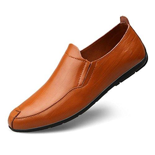 de para Aire Libre de de Hombre Zapatos Encaje Zapatos Trabajo Cuero Zapatos Casuales Zapatos Marea Zapatos Brown Zapatos al de TqwCSUEw0