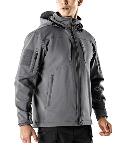 CQR CQ-HOK801-GRY_Medium Men's Tactical Softshell...