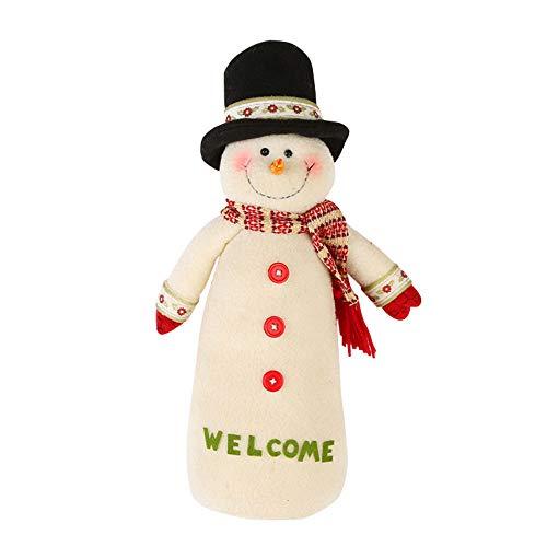 callm Christmas Doll,27/38cm Christmas Santa Claus Snowman Hat Stuffed Toys Plush Toy Doll (C,38cm)
