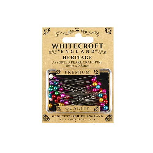 - Whitecroft Heritage Pearl Head Assorted Craft Pins 40 mm x 0.58 mm
