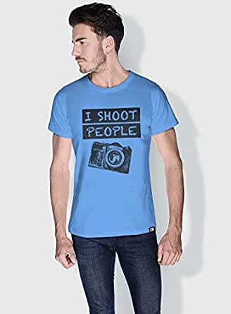 Creo I Shoot People Funny T-Shirts For Men - M, Blue