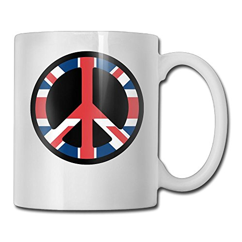 MIFNNN2 Uk Flag Peace 3D Durable Cool Coffee Cup,Our Shop Has More Beautiful Products.