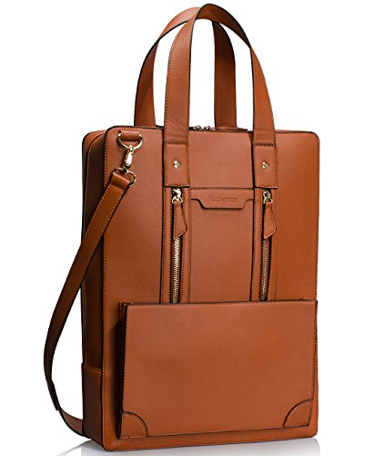 Estarer Women Business Briefcase Handbag PU Leather 15.6 Inc