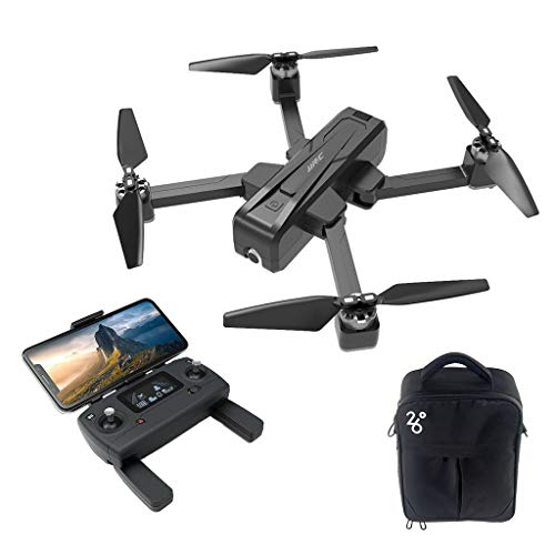 (Soosch Brushless RC Drone JJR/C X11 5G WiFi FPV 2K HD Camera GPS with Single-axis Gimbal Remote Control Quadcopter 1 Battery and Storage Bag (One Battery))