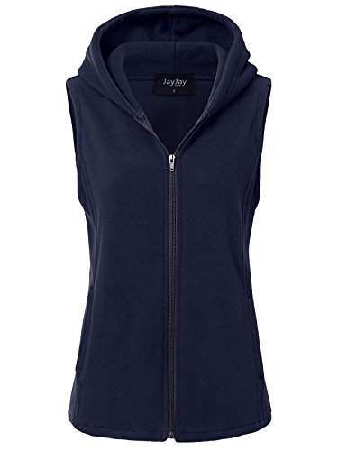JayJay Women Ultra Soft Fleece Sleeveless Hoodie ()