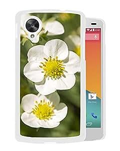 New Custom Designed Cover Case For Google Nexus 5 With Strawberry Flowers Flower Mobile Wallpaper (2) Phone Case
