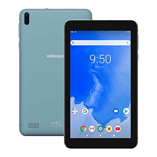 Winnovo T7 Tablet 7 inch Android 9.0 PC, 2GB RAM, 16GB Storage, Metal Middle Frame, HD IPS Display, 5G WiFi, GPS, FM, Bluetooth 4.0, Support Netflix, Play Store, CNN (Blue)