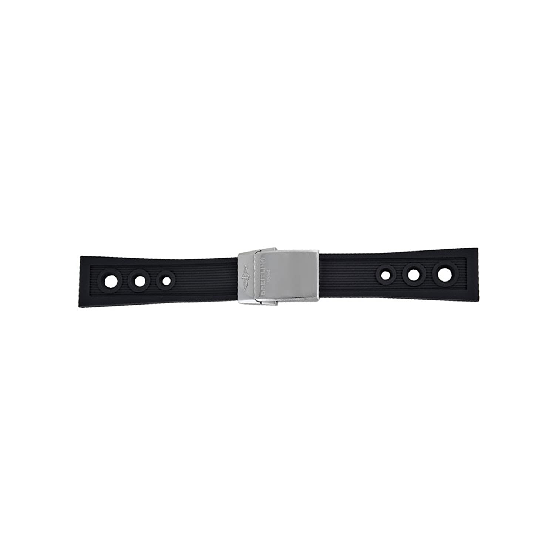 ブライトリングオーシャンレーサーブラックラバー24 mm – 20 mmストラップwith Push Button Clasp  B00S8IVO38
