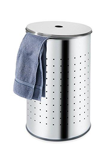 Wäschesammler Wäschetonne Edelstahl 54 Liter Barrel 1