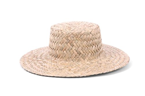 ale by Alessandra Women's Remy Woven Straw Boater Sunhat Packable and Adjustable, Natural, One (Woven Hat)