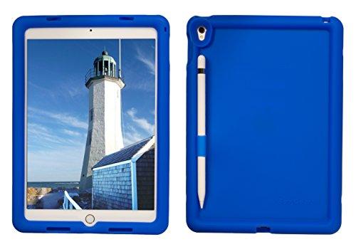 Bobj Rugged Case for iPad Pro 9.7 (2016), (Not for 2017 iPad Pro 10.5) - BobjGear Custom Fit - Patented Venting - Sound Amplification - BobjBounces Kid Friendly (Batfish Blue)