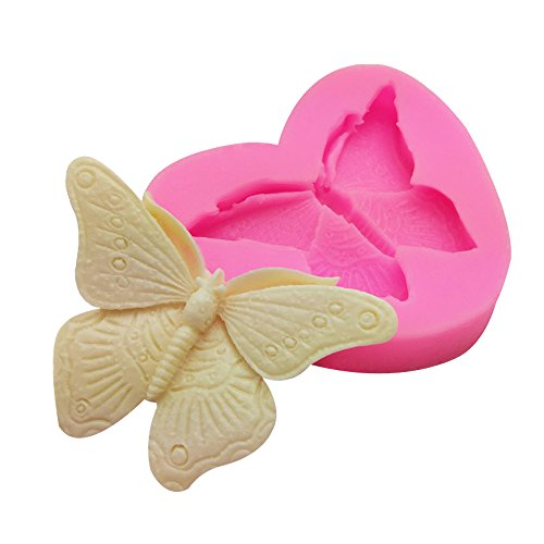 WYD 3D Butterfly Silicone Molds Cake Molds Decoration Baking Tool Handmade Soap Chocolate Fondant Molds ()