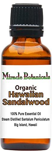 Miracle Botanicals Organic Hawaiian Sandalwood Essential Oil - 100% Pure Santalum Paniculatum - Therapeutic Grade - - Miracle Market Place