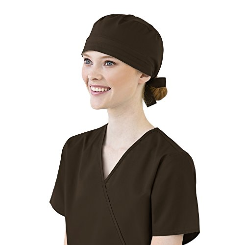 Nursing Scrub Hats (WonderWink Unisex-Adults Wonder Work Scrub Cap, Chocolate, 1SZ)