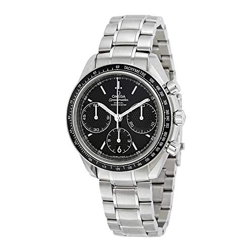 Omega Speedmaster Racing Automatic Chronograph Black Dial Stainless Steel Mens Watch - Omega Automatic Speedmaster