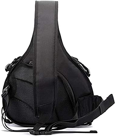 Size: 332417cm Black Color : Black YANTAIANJANE Camera Accessories Triangle Shape Tscope Sling Shoulder Cross Digital Camera Bags Case Soft Bag with Rain Cover for Canon for Nikon for Sony