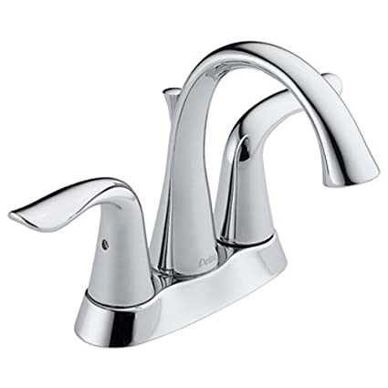 Delta Bathroom Faucets.Delta Faucet Lahara 2 Handle Centerset Bathroom Faucet With Diamond Seal Technology And Metal Drain Assembly Chrome 2538 Mpu Dst