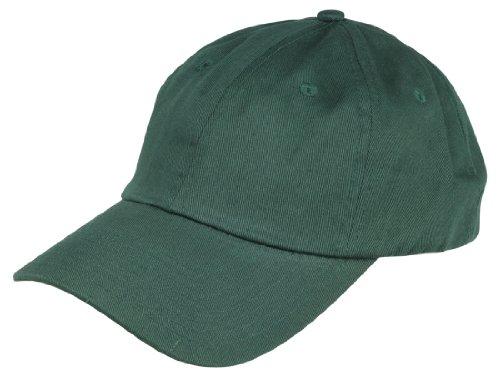 Dalix Unisex Unstructured Cotton Cap Adjustable Plain Hat, Dark Green (Dark Green Baseball Hat)