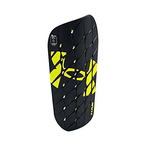 Under Armour Men's Armour Flex Pro Shinguard, Black/High-Vis Yellow, Small