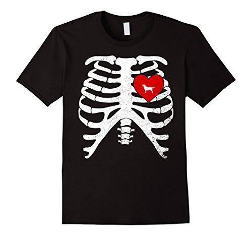Yellow Labrador Costume (Mens Skeleton Rib Cage Costume Halloween T-Shirt YELLOW LABRADOR XL Black)