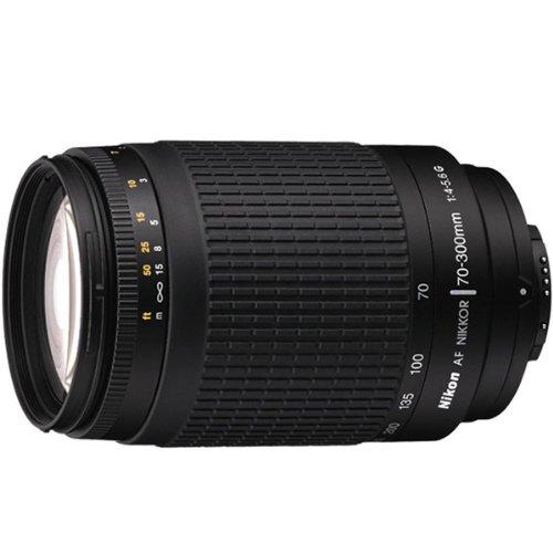 Nikon 70-300mm f/4-5.6G AF Telephoto Nikkor Lens with HB-26 Hood (Silver) - International Version (No Warranty) (Nikon F100 F5)