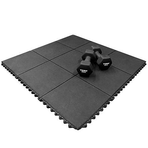 The Garden Range | Rubber Gym Mat – Interlocking Commercial Or Home Gym Flooring (900x900x16mm)