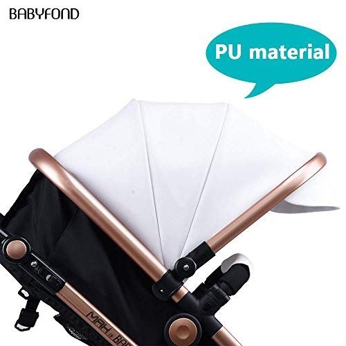 41Mpl%2Ba3BSL - Anti-Shock Luxury Baby Stroller 3 In 1,Babyfond Convertible Bassinet To Toddler Stroller,Reinforced Frame For Safety,Vista Pram,Quick Fold Baby Carriage(2020 Upgraded Version Black PU)