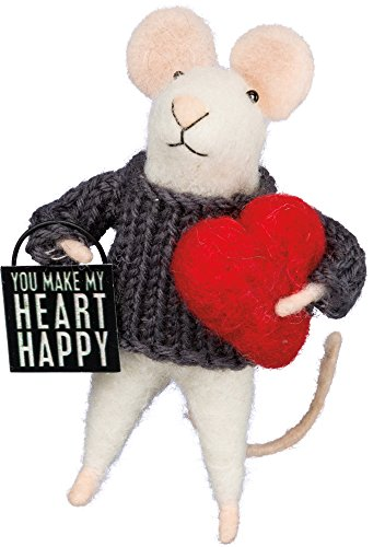 Box Sign Mouse - Heart Happy SIZE: 4.50