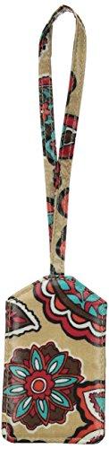 Vera Bradley Iconic Luggage Tag, Signature Cotton, Desert Floral + 1.5 Power