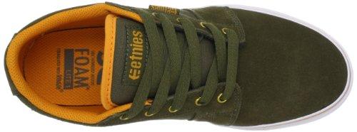 Hombre Etnies LS Olive Zapatillas Orange Verde de Skateboard Barge wZXRXP4