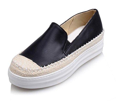 escoge los zapatos del elevador zapatos de la señora de primavera y otoño mujeres ocasionales mollete zapatos gruesos de la corteza Sra zapatos planos , US7.5 / EU38 / UK5.5 / CN38