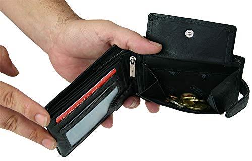 Volets À Transversale Poche Monnaie Portefeuille Et Porte Poussoir Pour Paysage Avec Homme monnaie Trois Barre Bouton IwIR1xY4q