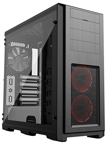 Phanteks Enthoo Pro TG SE with 2x Halos RGB Fan Frames Tempered Glass Side Panel Black/White Interior (PH_ES614PTG_SWT) by Phanteks