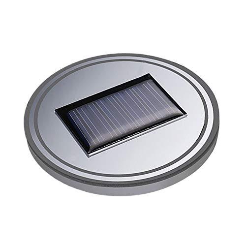 Vcenty Coaster 2pcs Car Solar Power Cup Holder Bottom Mat Pad -LED Cup Holder Lights -LED Light Cover Trim Atmosphere Lamp For SUV, Truck, Camper