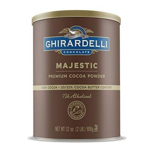 Ghirardelli Majestic Premium Cocoa Powder, 2 Pound -- 6 per case.