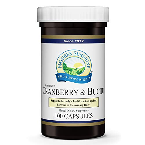 Nature's Sunshine Cranberry & Buchu Concentrate, 100 Capsules   Herbal Supplement Helps Support a Healthy Urinary Tract by Delivering Powerful Herbs Such as Buchu Leaf