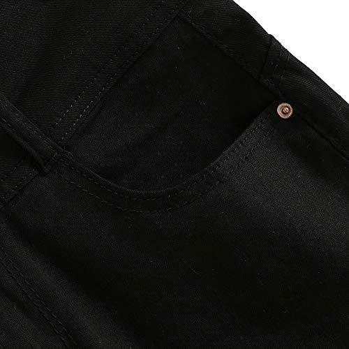 Mezclilla Tendencia Cortos Casual Sólido Con De Jeans Npradla Cortos Vaqueros Moda Negro Lavado Cintura Corta Pequeños UqRXXf