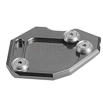 Red MeterMall CNC Billet Aluminum Kickstand Foot Plate Side Stand Pad for BMW F650GS 07-14