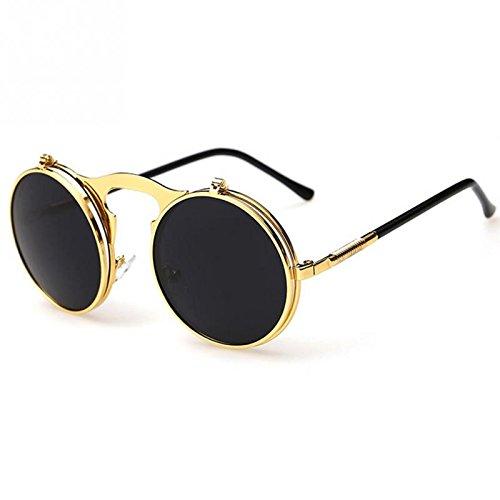 becb4e96b Amazon.com : Vintage Steampunk Sunglasses round Designer steam punk Metal  OCULOS de sol women Sunglass Men SUN GLASSES : Everything Else