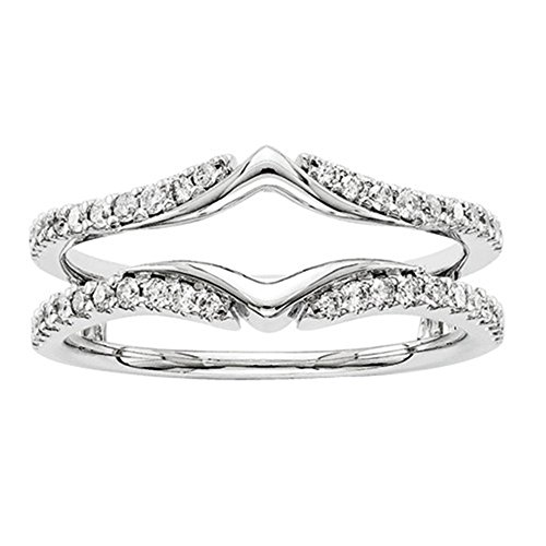 14k White Gold Plated 1/3ct Ro