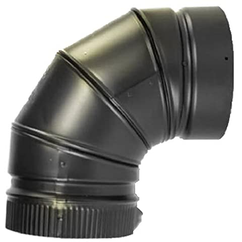 Selkirk Metalbestos 266230 6-Inch 90 Elbow Matte Black (Stove Pipe Through Wall)
